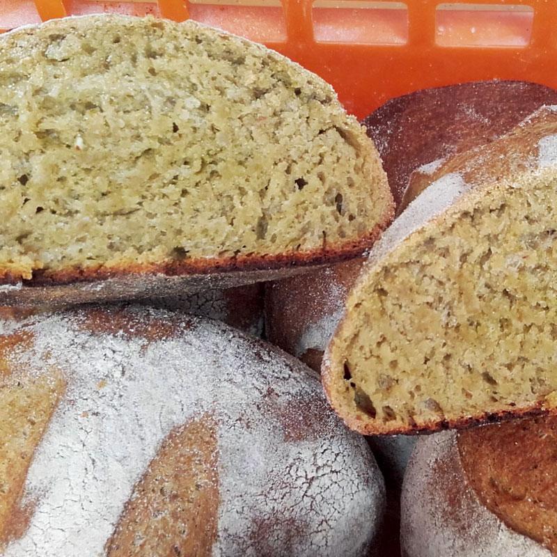 Pain-au-pesto - Pains régulier de la boulangerie artisanale BARA'LO